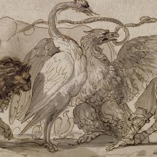 동물들을 유혹하는 오르페우스