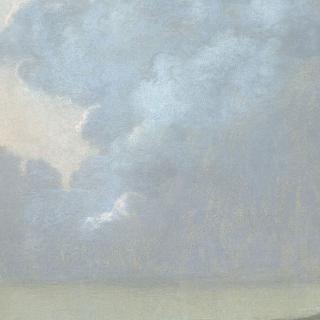 바닷가의 구름