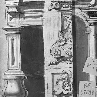 건축 세부 묘사 : 벽기둥, 코니스, 받침돌