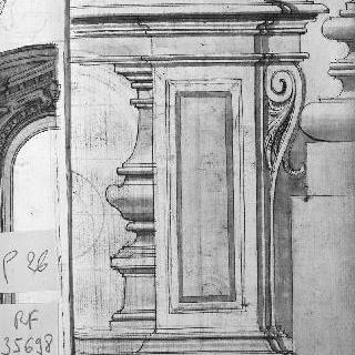 코니스와 기둥 단면도