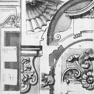 건축 장식의 세 가지 소재 : 조개껍질, 잎 모양 장식