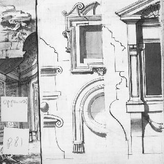 창문, 천창과 박공의 세부 묘사