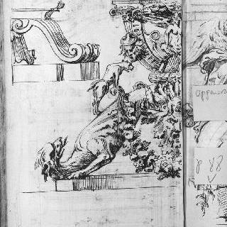 장식 소재 : 화관, 인물의 두상과 동물의 머리
