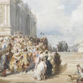 베르사유 궁의 공원 계단
