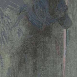 석양 : 푸른 빛의 인물