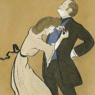 남편인 배우 르 바르기를 꾸며주는 시몬부인의 희화화된 초상