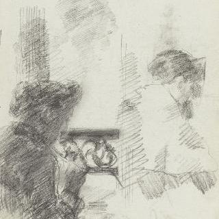 열린 창문 근처에서 바느질하는 여자 프로필