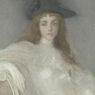 검은 모자를 쓴 소녀의 초상