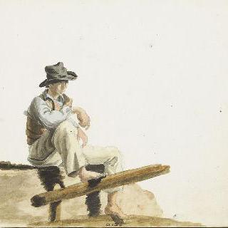 바위 위에 앉아 있는 선원
