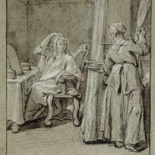 성 메다르의 기적으로 치유된 사람과 얀센파의 광신자들 : 병든 코아랭 아씨