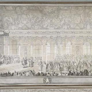 터키 대사를 접견하는 루이 15세. 1742년