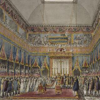루브르 예배당에서의 나폴레옹 황제와 오스트리아의 마리 루이즈의 결혼식