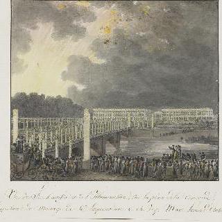 콩고르드 광장의 일류미네이션과 불꽃놀이 광경