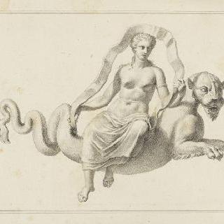 키마아라의 등에 올라탄 여인