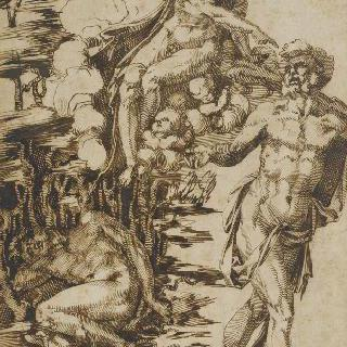 아벨을 살해한 죄로 그리스도에게 저주받은 카인