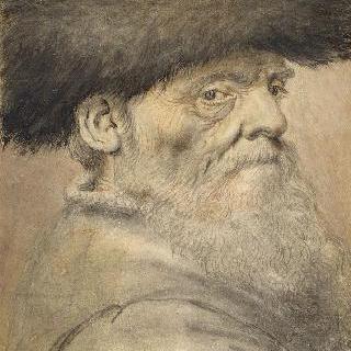챙 없는 모자를 쓴 남자의 두상