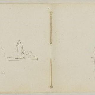 1882년-1889년경 크로키 화첩 : 습작 3점 : 두 습작중 상반신 1점