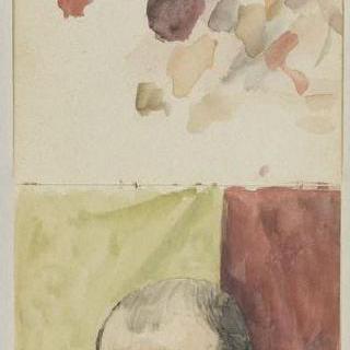 1882년-1889년경 크로키 화첩 : 수채화 시도 : 자화상