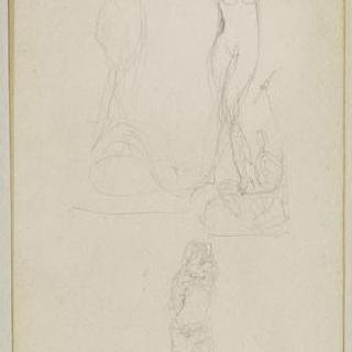 1882년-1889년경 크로키 화첩 : 인물들이 있는 습작 3점 : 인물 습작