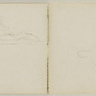 1882년-1889년경 크로키 화첩 : 인물이 있는 습작 2점 : 서 있는 한 사람