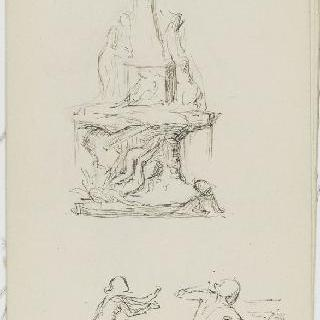 화첩 : 마르세유의 다나오스의 50명의 딸의 샘 습작 (1907년 대리석)