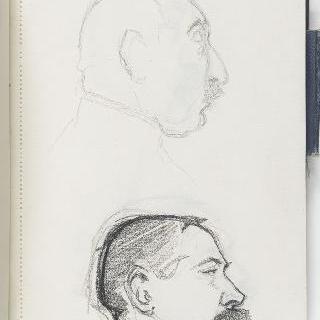 크로키 화첩 : 남자의 측면 초상 2점