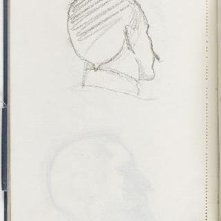 크로키 화첩 : 남자의 초상 뒷모습