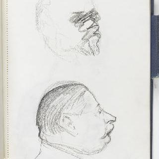 크로키 화첩 : 남자의 초상 2점 중 초벌화 1점