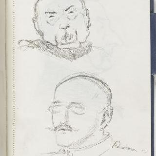 크로키 화첩 : 남자의 초상 2점과 4분의 3상 초상