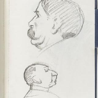크로키 화첩 : 남자의 측면 초상