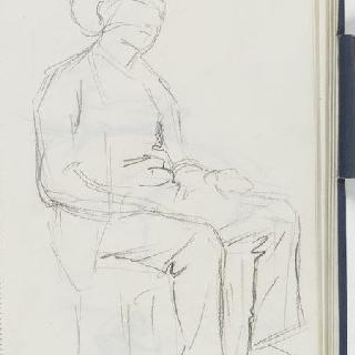 크로키 화첩 : 앉아 있는 남자 초벌화와 백지