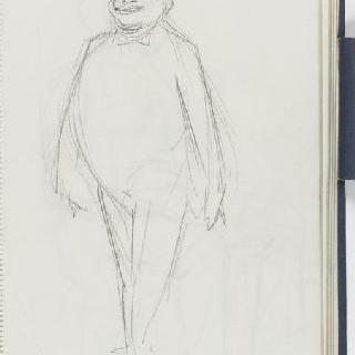 크로키 화첩 : 서 있는 남자 초벌화와 백지