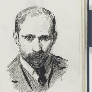 크로키 화첩 : 남자의 정면 초상과 백지