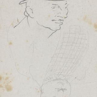 모자를 쓴 남자의 초상 2점