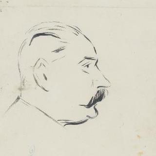 남자의 측면 초상 이미지