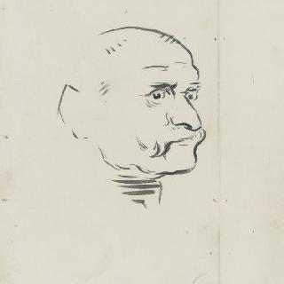 남자의 측면 초상
