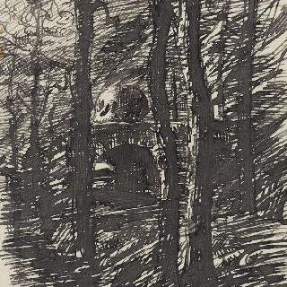 작은 초목 숲의 묘비