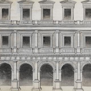 고대풍 여관 건물을 위한 작업