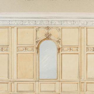 음악 살롱, 1층 : 내장판이 있는 벽