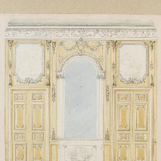 거울과 문, 동물 그림들, 벽난로가 있는 벽