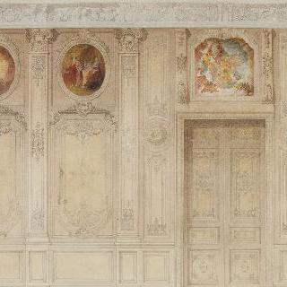 세 개의 장식 그림 중 하나는 문 위에 그려진 벽