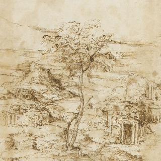 고대 건축물이 있는 풍경
