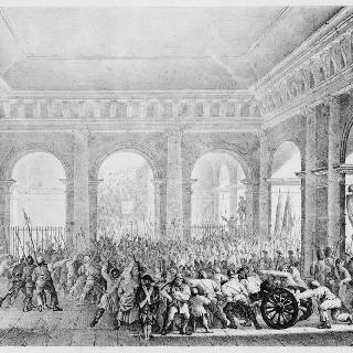 1792년 6월 20일 튈르리궁에 들어가는 민중들