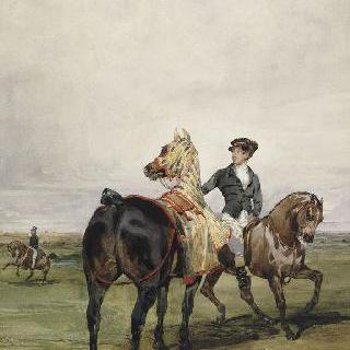 말을 타고 하는 산책