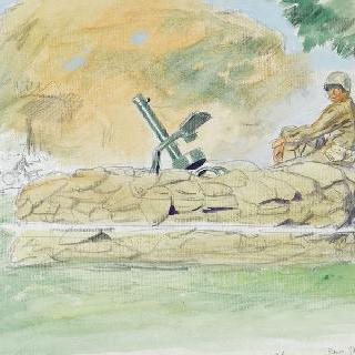 샹젤리제의 원형 교차로의 기관총