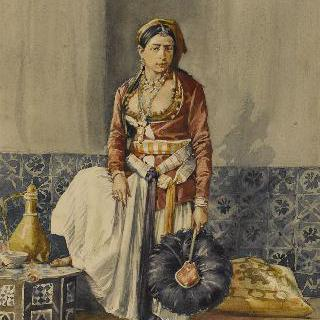 실내복을 입은 알제리의 무어 여자