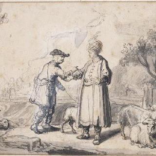 아브라함과 롯의 이별. 영주와 목동