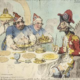 1793년 5월 15일, 세인트 제임스 연방국에서 저녁 식사를 하는 뒤무리에