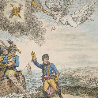 이집트를 떠나는 부오나파르트 (나폴레옹 보나파르트의 원 표기 이름)