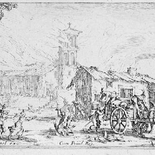 마을 약탈과 화재